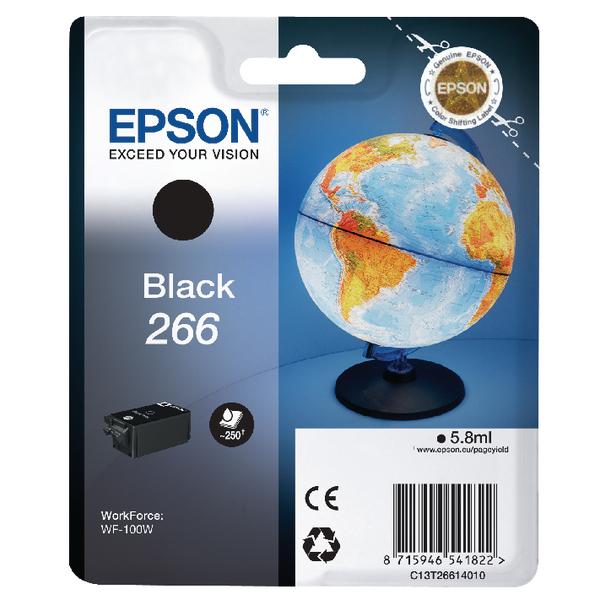 Epson 266 Black Ink Cartridge C13T26614010 / T2661