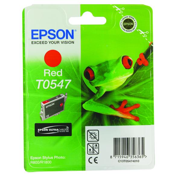 Epson T0547 Red Inkjet Cartridge C13T05474010 / T0547