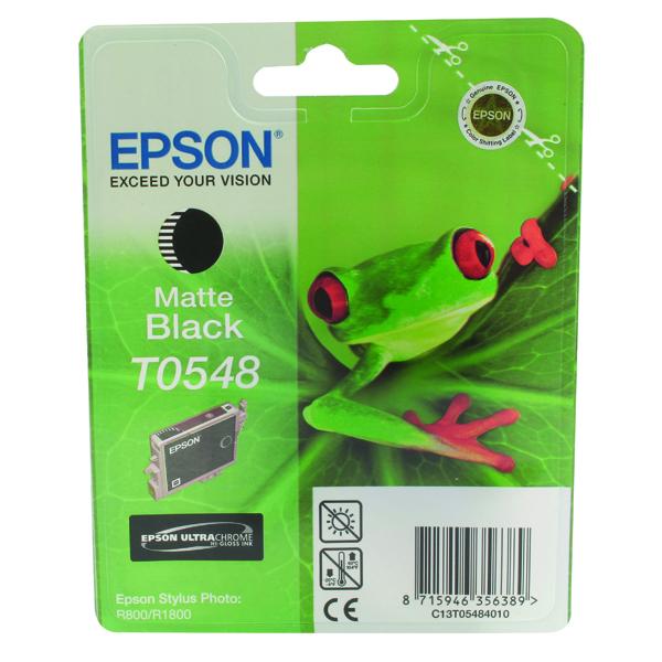 Epson T0548 Matte Black Inkjet Cartridge C13T05484010 / T0548