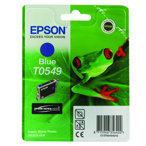 Epson T0549 Blue Inkjet Cartridge C13T05494010 / T0549