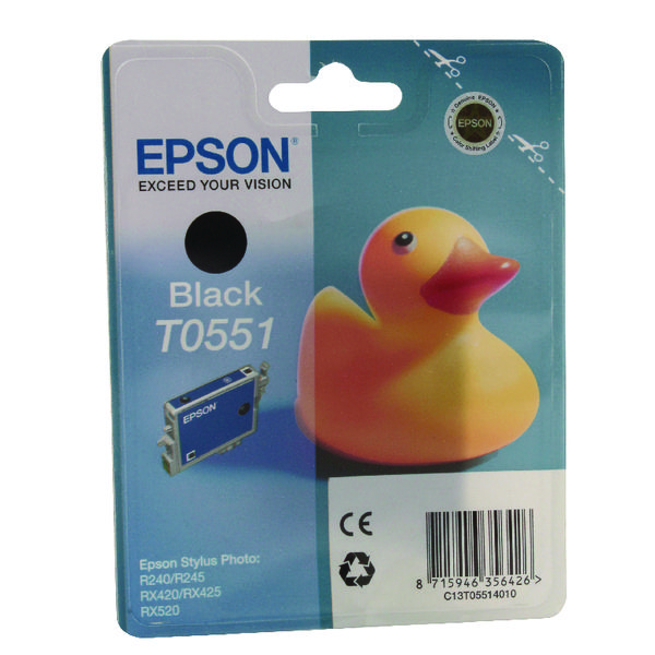 Epson T0551 Black Inkjet Cartridge C13T05514010 / T0551
