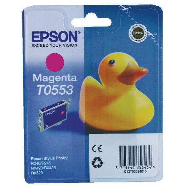 Epson T0553 Magenta Inkjet Cartridge C13T05534010 / T0553