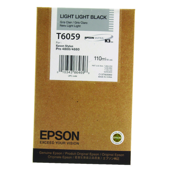 Epson T6057 Light Black Inkjet Cartridge For Stylus Pro 4800/4880 110ml C13T605700