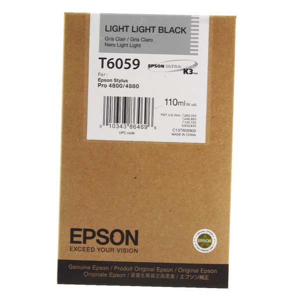 Epson T6059 Light Light Black Inkjet Cartridge For Stylus Pro 4800/4880 110ml C13T605900