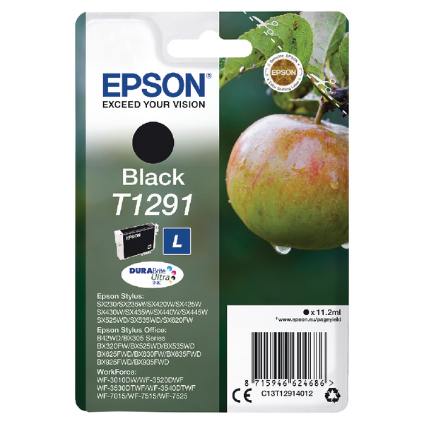 Epson T1291 Black Inkjet Cartridge C13T12914012