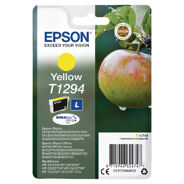 Epson T1294 Yellow Inkjet Cartridge C13T12944012