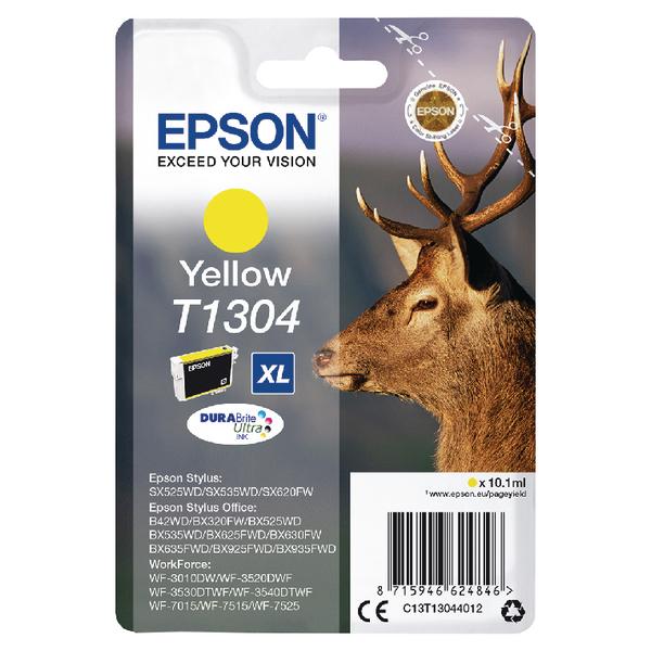 Epson T1304 XHY Yellow Inkjet Cartridge C13T13044012