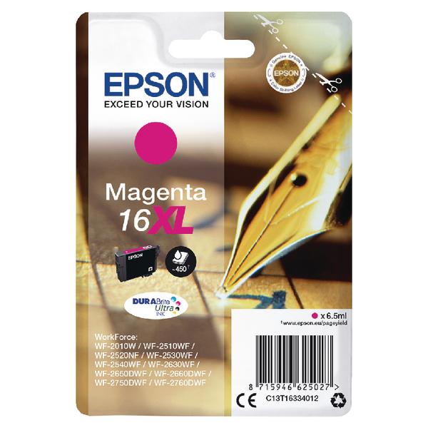 Epson 16XL Magenta Inkjet Cartridge C13T16334012