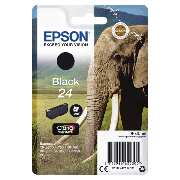 Epson 24 Black Inkjet Cartridge C13T24214012