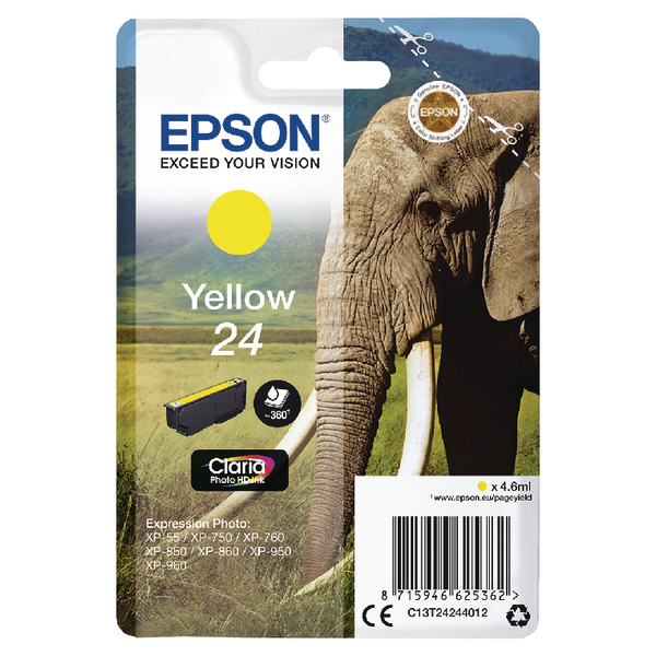 Epson 24 Yellow Inkjet Cartridge C13T24244012