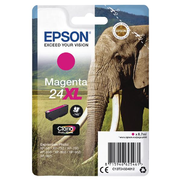 Epson 24XL Magenta Inkjet Cartridge C13T24334012