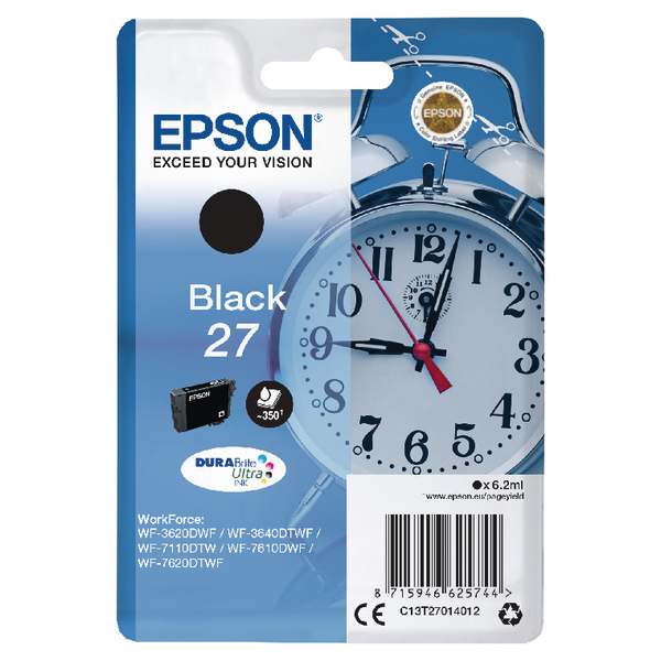 Epson 27 Black Inkjet Cartridge C13T27014012