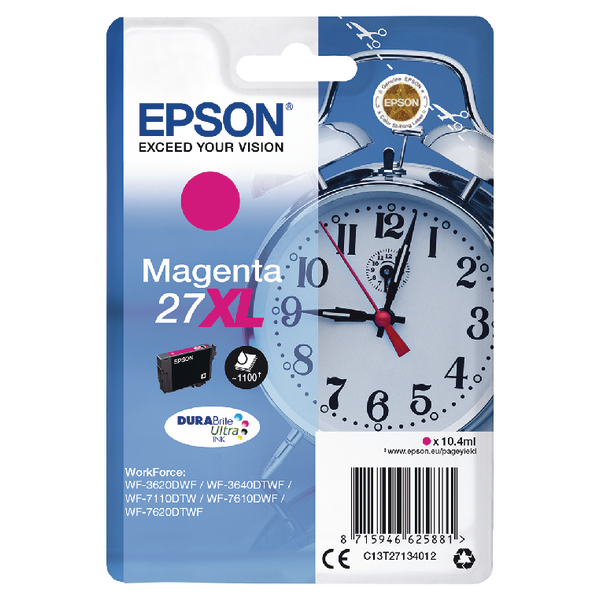Epson 27XL Magenta Inkjet Cartridge C13T27134012