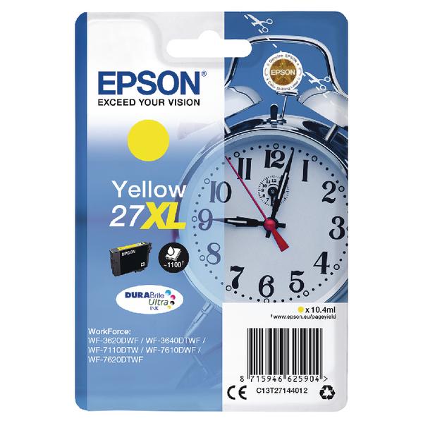 Epson 27XL Yellow Inkjet Cartridge C13T27144012