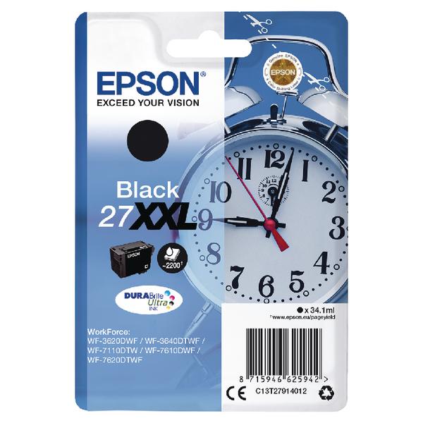 Epson 27XXL Black Inkjet Cartridge C13T27914012