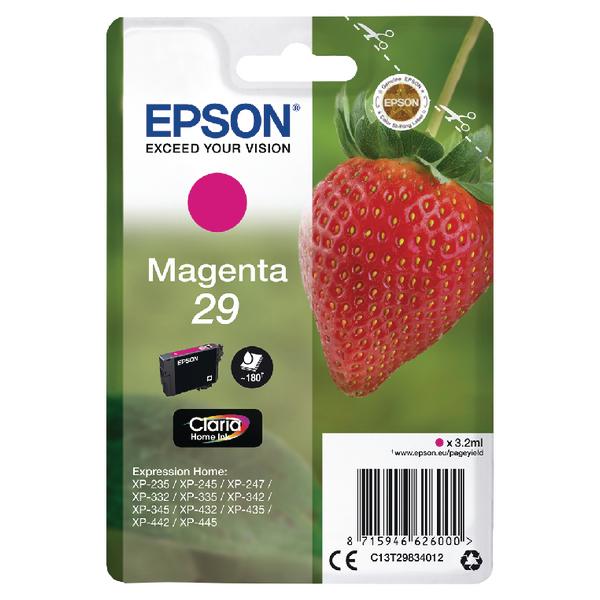 Epson 29 Magenta Inkjet Cartridge C13T29834012