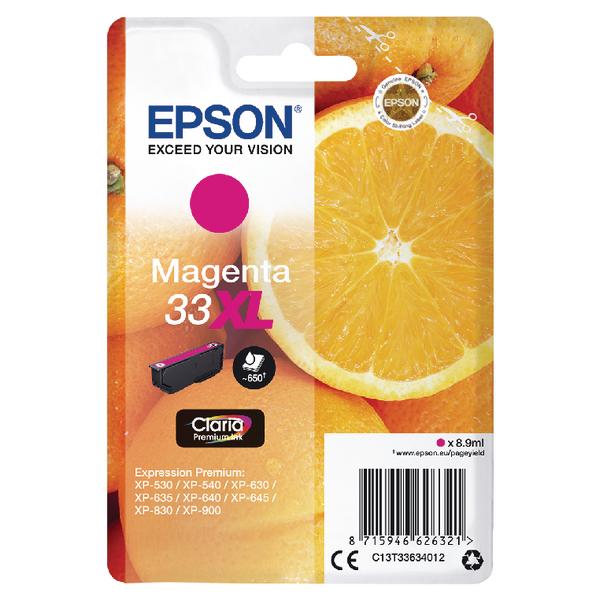 Epson 33XL Magenta Inkjet Cartridge C13T33634012