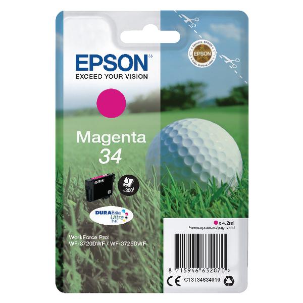 Epson Singlepack Magenta 34 DURABrite Ultra Ink C13T34634010