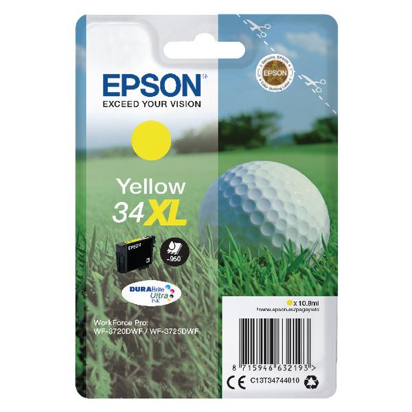 Epson Singlepack Yellow 34XL DURABrite Ultra Ink C13T34744010