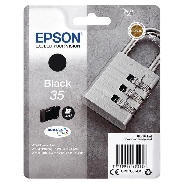 Epson Singlepack Black 35 DURABrite Ultra Ink C13T35814010