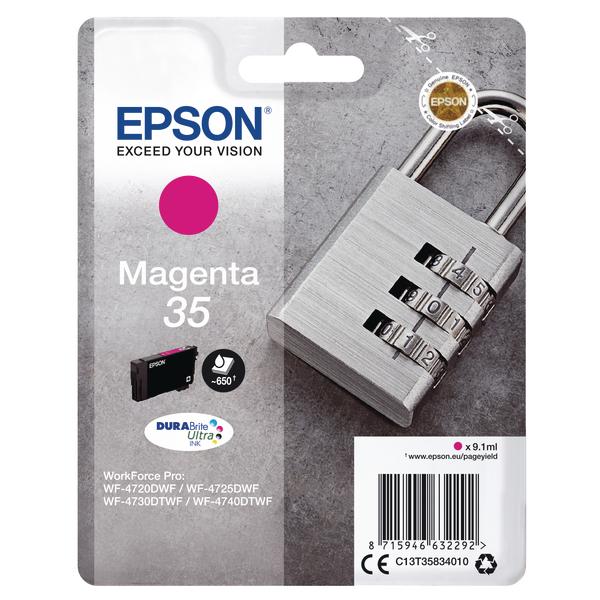 Epson Singlepack Magenta 35 DURABrite Ultra Ink C13T35834010