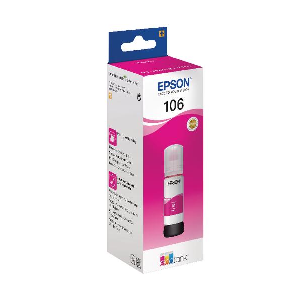 Epson 106 EcoTank Magenta Ink Bottle C13T00R340
