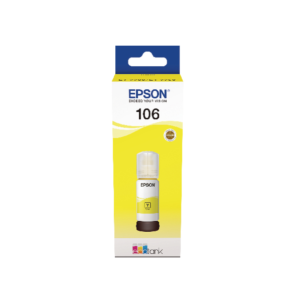 Epson 106 EcoTank Yellow Ink Bottle C13T00R440