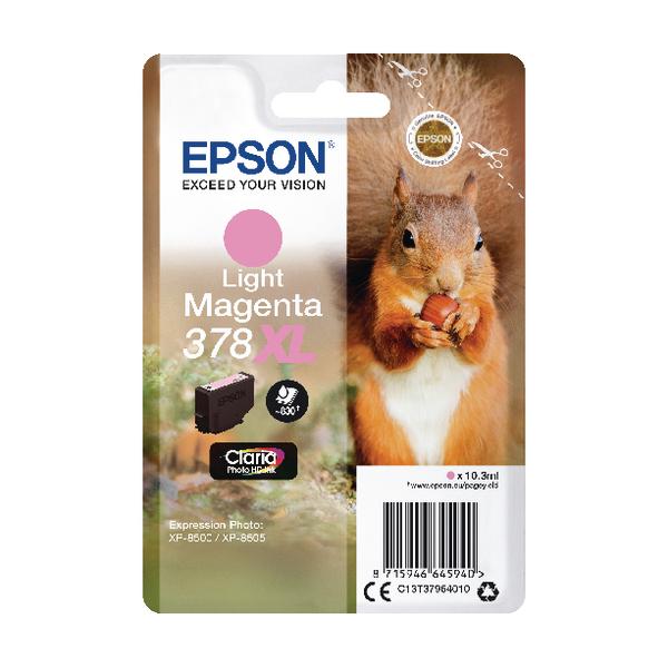 Epson 378XL Light Magenta Photo HD Inkjet Cartridge C13T37964010