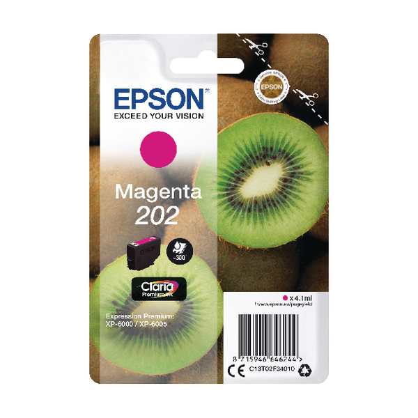 Epson 202 Magenta Inkjet Cartridge C13T02F34010