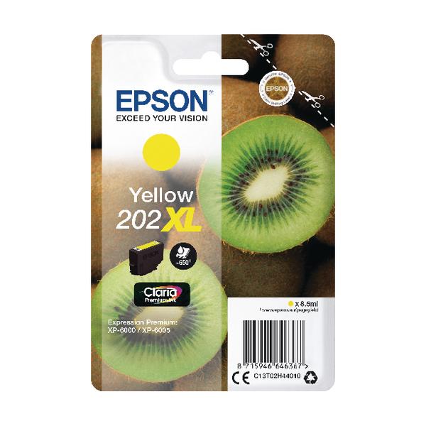Epson 202XL Yellow Inkjet Cartridge C13T02H44010