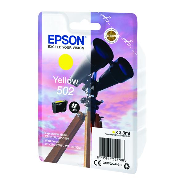 Epson Singlepack 502 Ink Yellow