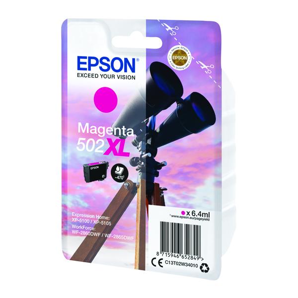 Epson Singlepack 502XL Ink Magenta C13T02W34010