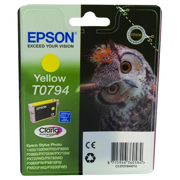Epson T0794 Yellow Inkjet Cartridge C13T07944010 / T0794