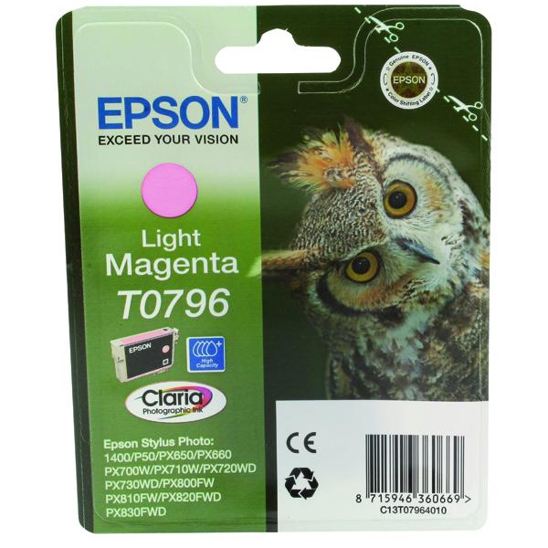 Epson T0796 Light Magenta Inkjet Cartridge C13T07964010 / T0796