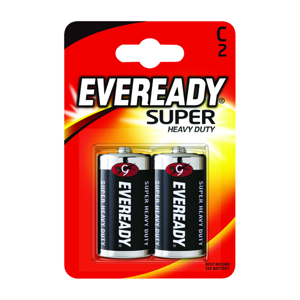 Eveready Super Heavy Duty C Batteries (Pack of 2) R14B2UP