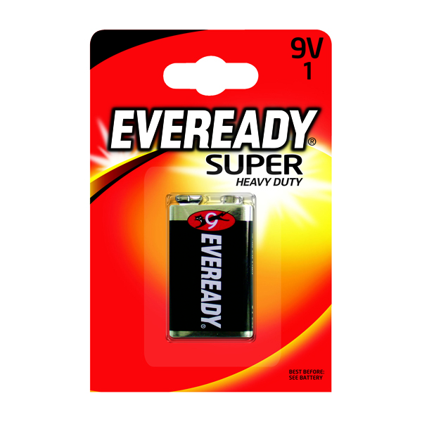 Eveready Super Heavy Duty Battery 9V 6F22BIUP