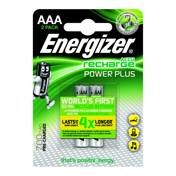 Energizer Rechargable AAA Batteries (Pack of 2) 632986