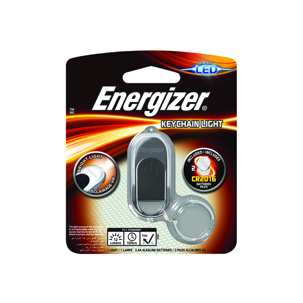 Energizer Keychain Light Torch CR2016 Silver 632628