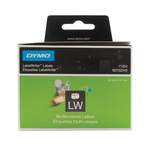 Dymo White Multi-Purpose Labels 57x32mm (Pack of 1000) S0722540