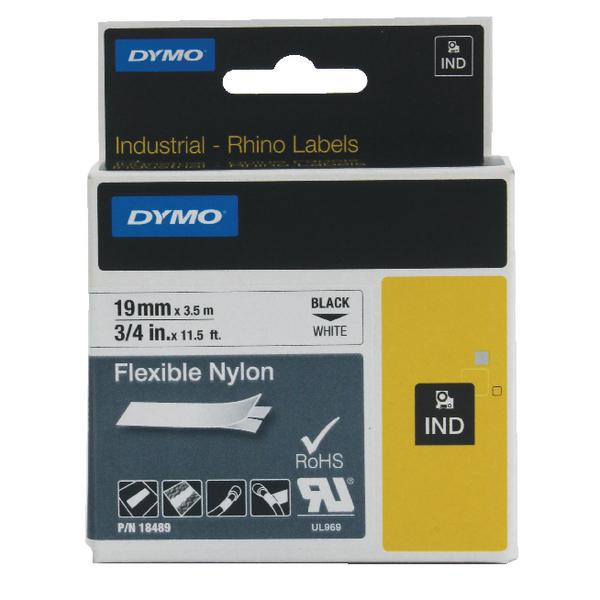Dymo White Rhino Nylon Tape 19mmx3.5m ID1-19-1300 S0718120