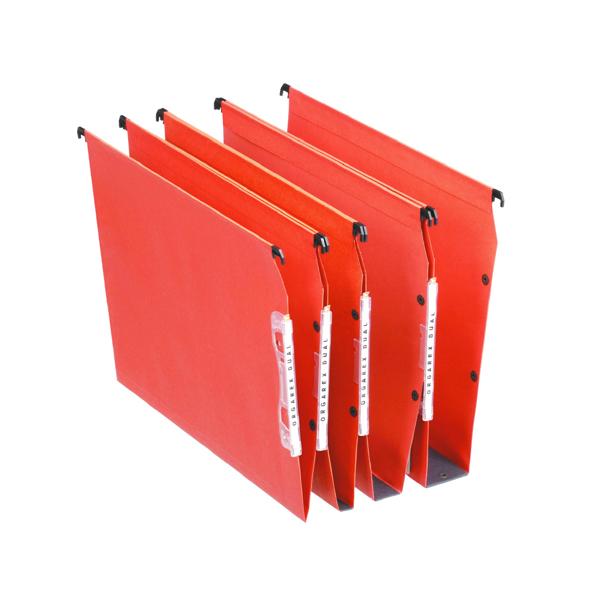 Esselte Orgarex 15mm Lateral File V-Bottom A4 Orange (Pack of 25) 21627