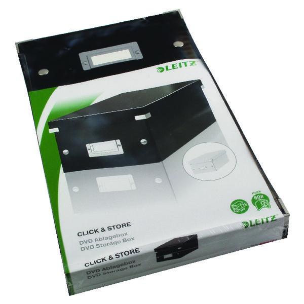 Leitz Click and Store DVD Storage Box Black 60420095
