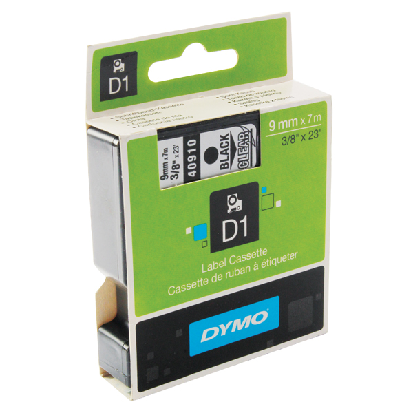 Dymo Black on Clear 1000/5000 D1 Standard Tape 9mmx7m S0720670