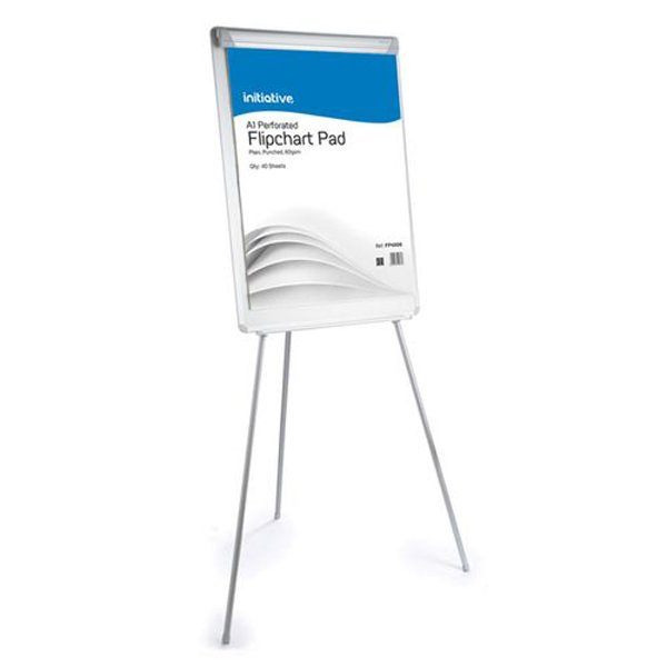 Image for Initiative Retractable Flipchart Easel With Drywipe Surface and Pen Tray