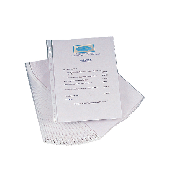 Image for Esselte Clear Copysafe Pockets A4 (Pack of 100) 56133