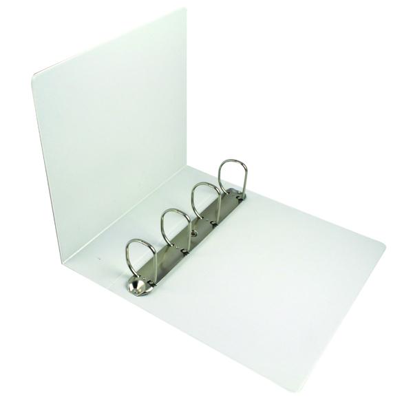Esselte A4 White 65mm 4 D-Ring Presentation Binder 49706