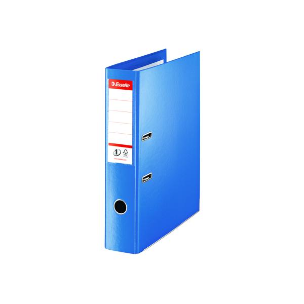 Esselte Lever Arch File Polypropylene Foolscap 75mm Blue (Pack of 10) 48085