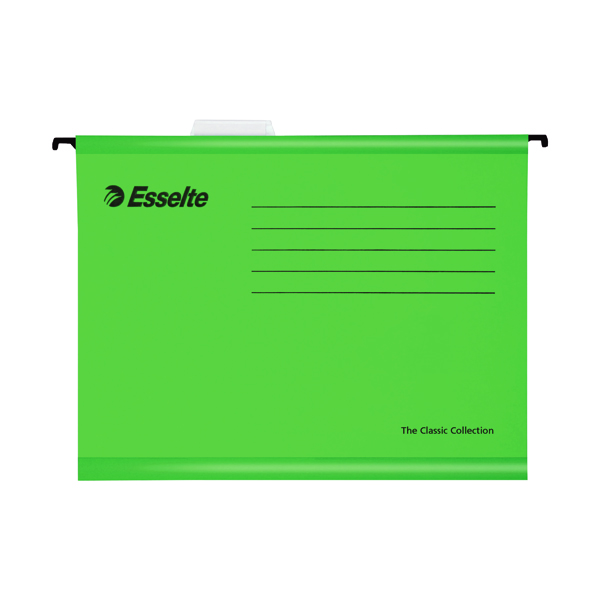 Esselte Classic A4 Green Suspension File (Pack of 25) 90318