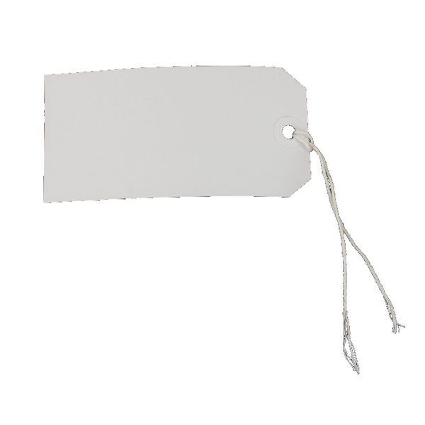 Strung Tags 5CKL 120 x 60mm White Single (Pack of 75) 8014