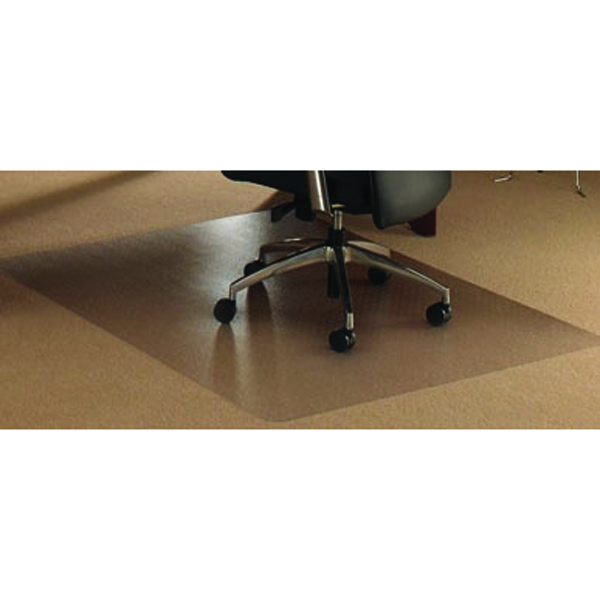 Floortex Polycarbonate Rectangle Carpet Chair Mat 119x89cm 118923ER